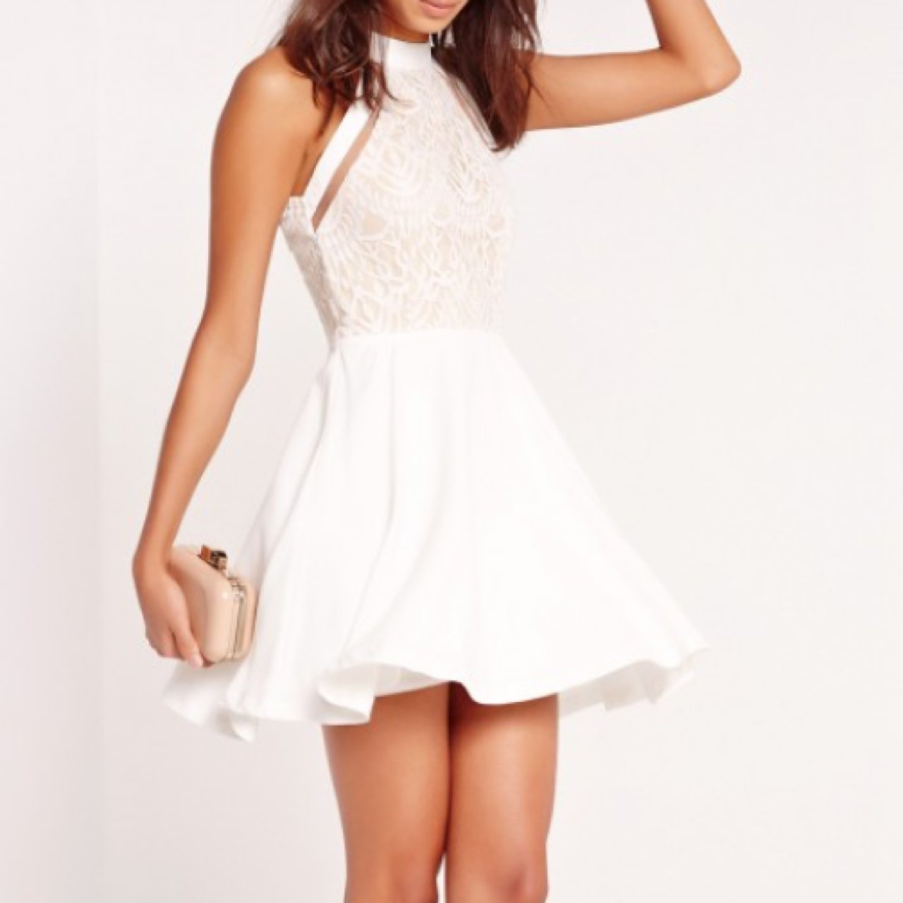 55554ffe5517 @rebeccaos. last year. Ireland. 'Mesh stripe lace top skater dress ...