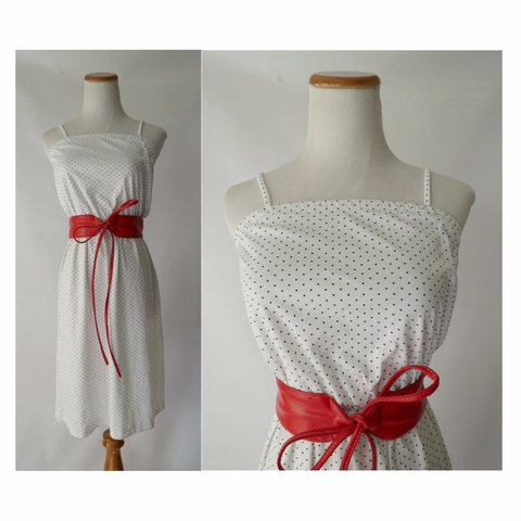 747e0bad820 Vintage polka dot sundress from the 70 s! - slip dress midi - Depop