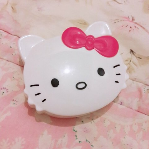 0b7d000b0 sanrio hello kitty case ~ perfect for eyelashes, contacts, - Depop