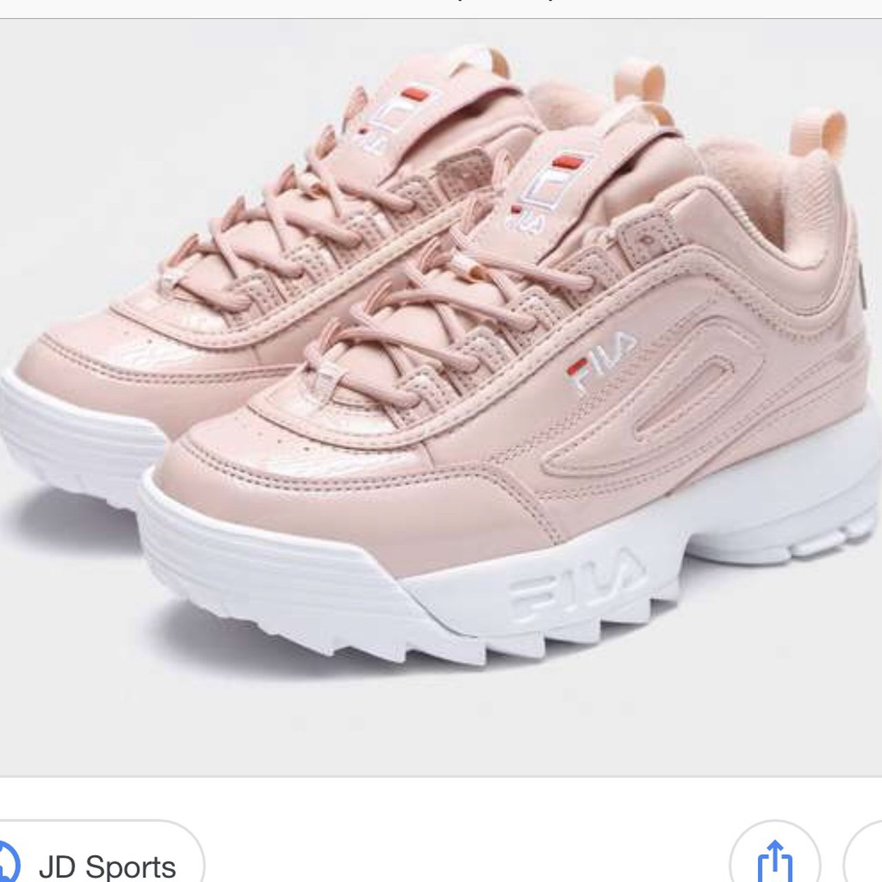 FILA BABY PINK TRAINERS, quite worn but