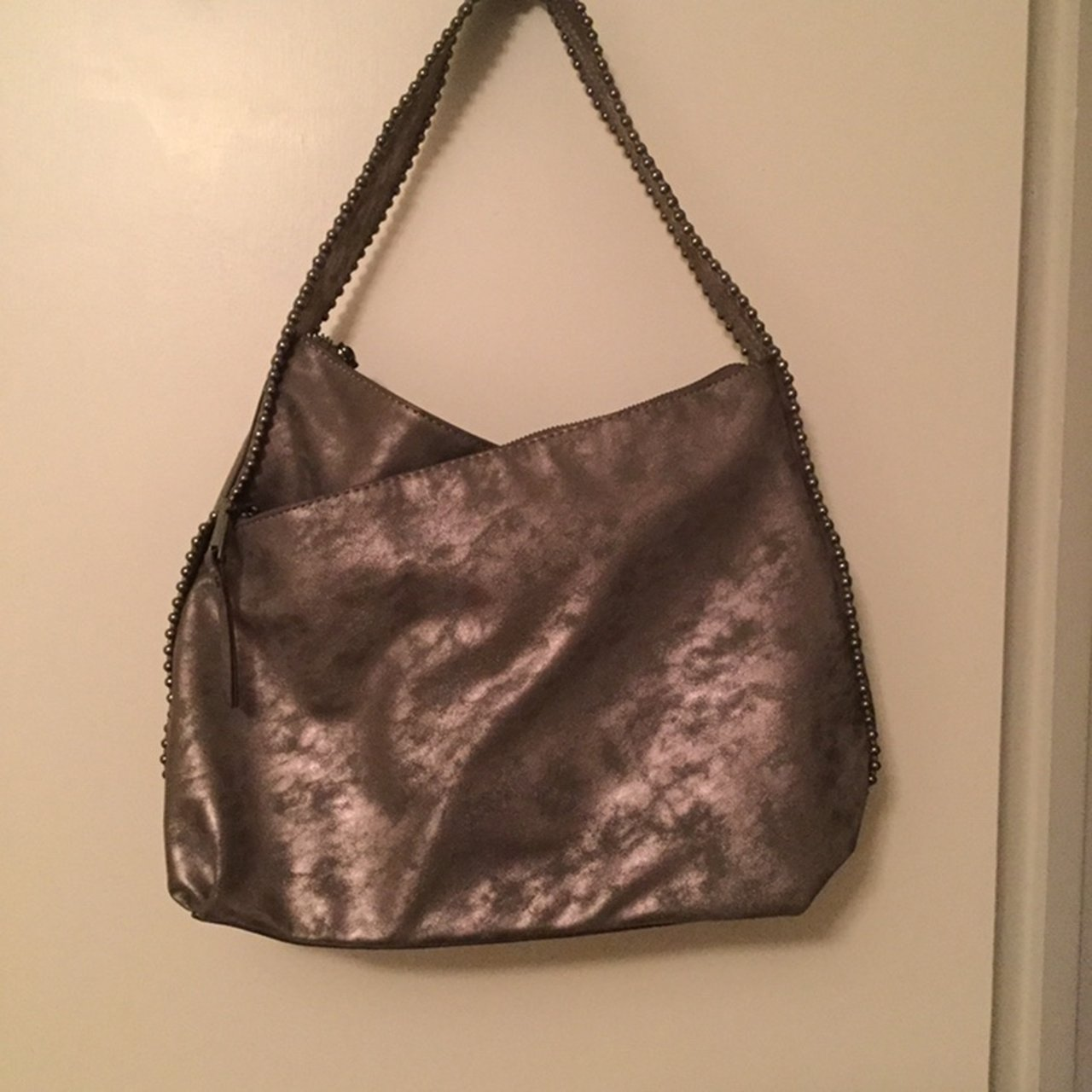 08f4a3ee8ff3 INC international concepts bag Weathered silvery gray on   - Depop