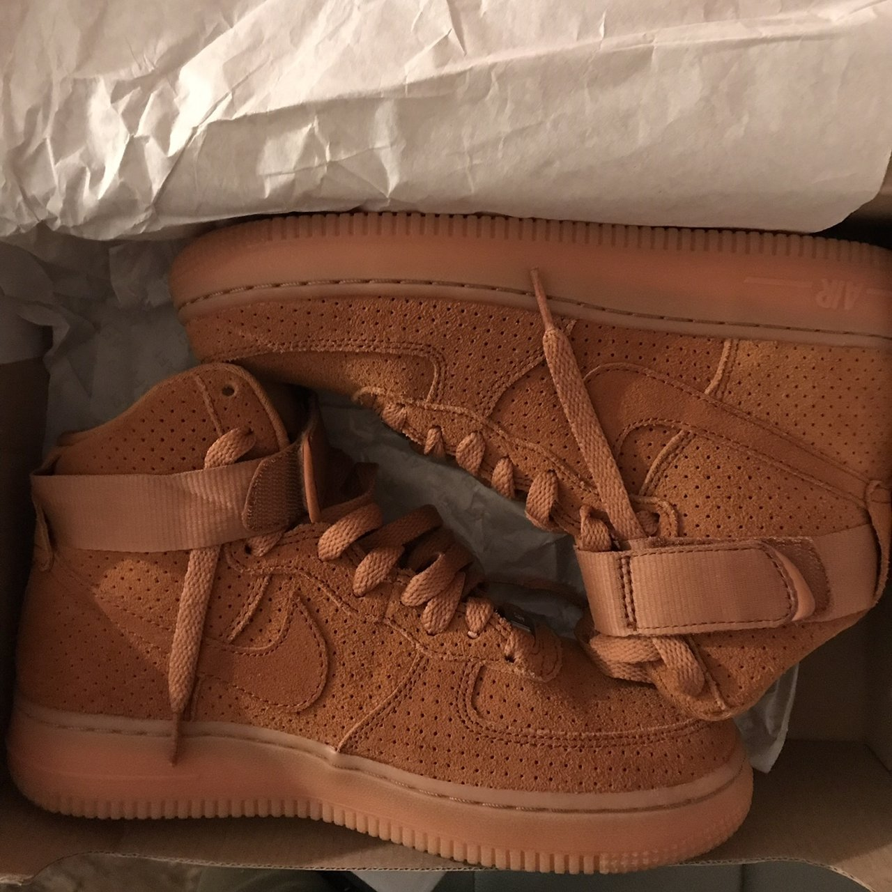 Wheat Nike Air Force 1s- 0 2c0645144