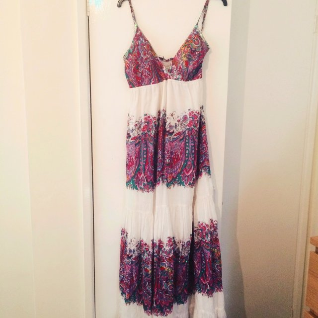 bed7df8dabe Colourful maxi dress new look size 12 - Depop