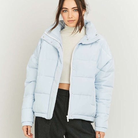 Selling this baby blue LIGHT BEFORE DARK Puffer jacket! A me - Depop f9e701363