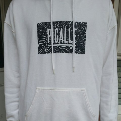 870ea12a9 Pigalle hoodie size medium (cream / off white) 10/10 bought - Depop