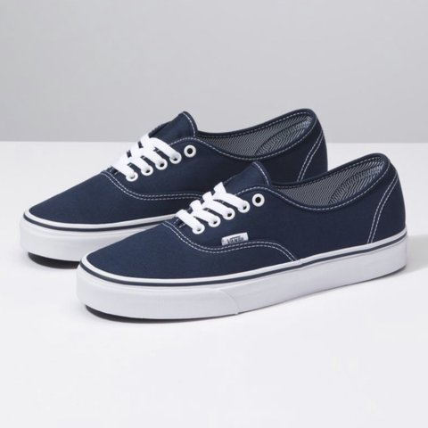 d43122e807 Selling my navy blue vans Has some holes on both shoes but - Depop