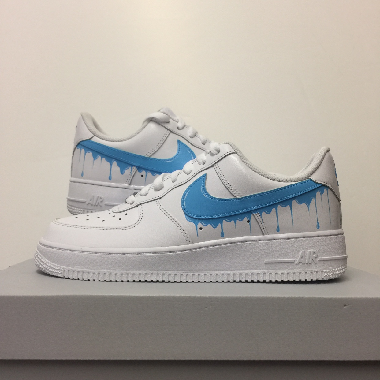 nike air force 1 custom blue drip