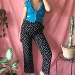 60e752325f RARE Crazy 1990s La Croix design high waist squiggle pants - Depop