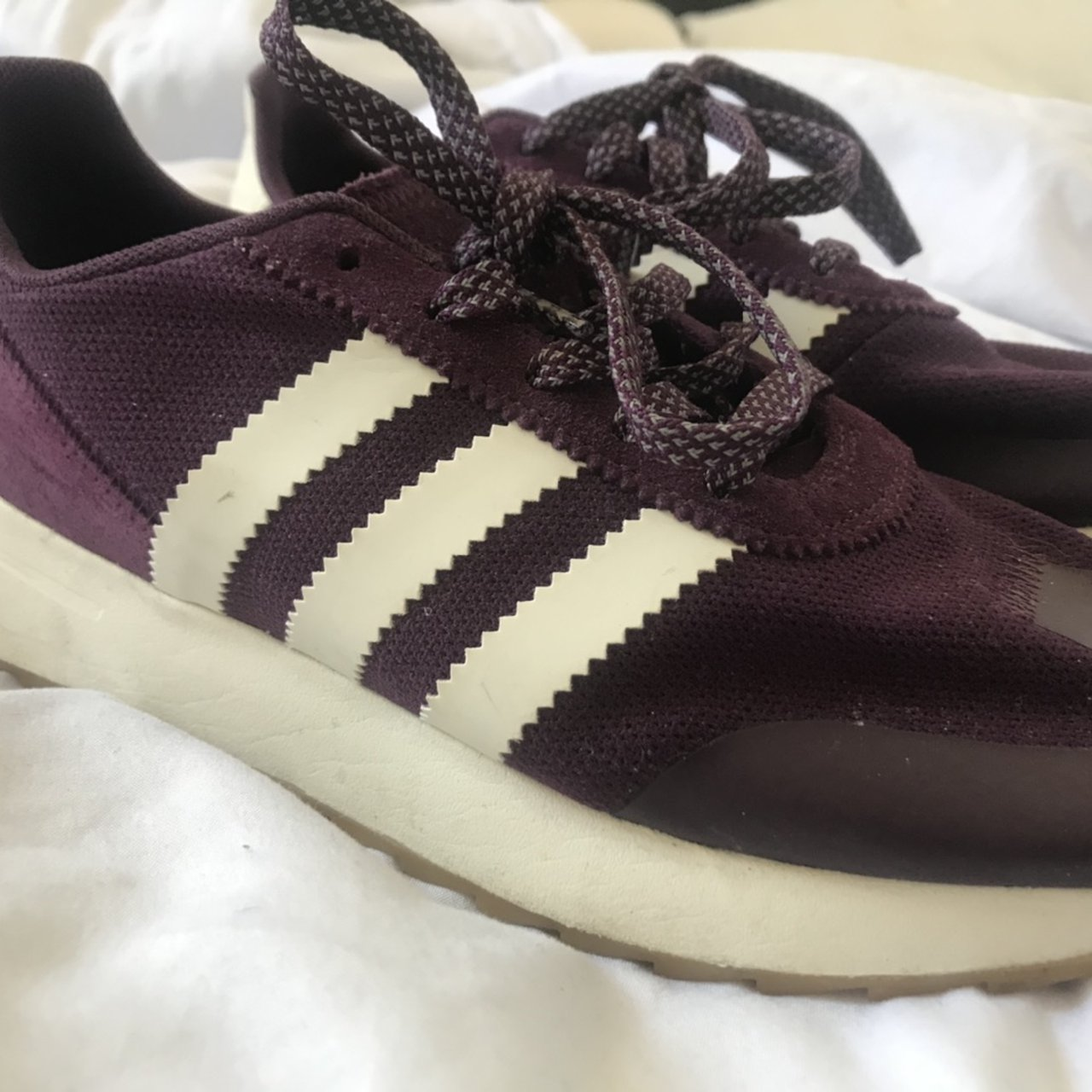 Plum adidas trainers. Size 6. Great