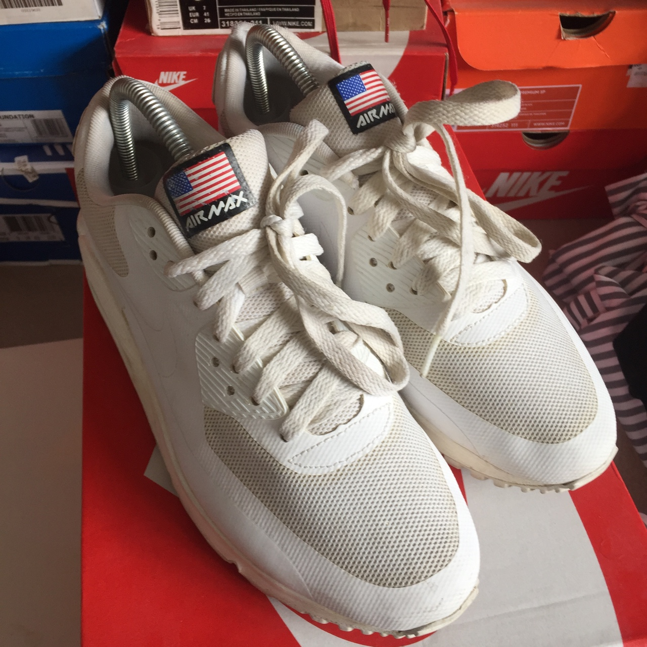 Nike air max 90 Independence Day White UK6 7.510 Depop