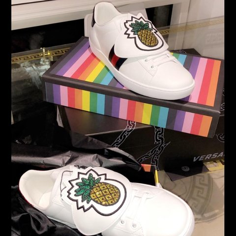 5ede78ade30 Brand New Never Worn 100% authentic GUCCI White Pineapple - Depop