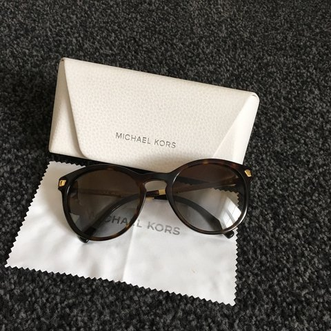 51f1a2777 Michael Kors brown and gold sunglasses. Only worn a few in - Depop