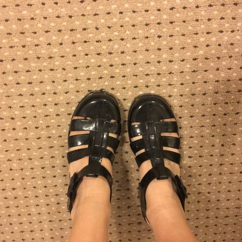 e8c80024b63 Black Jellies Jelly Sandals Size 5. Brand New and never - Depop