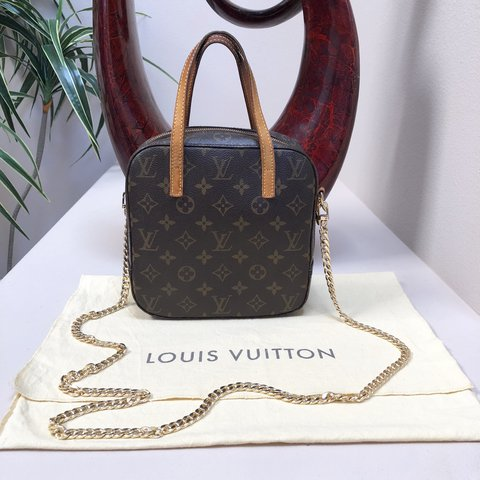 d8dc53d43 @illlisted. last year. Auburn, United States. Authentic Louis Vuitton LV  monogram structured crossbody bag with ...