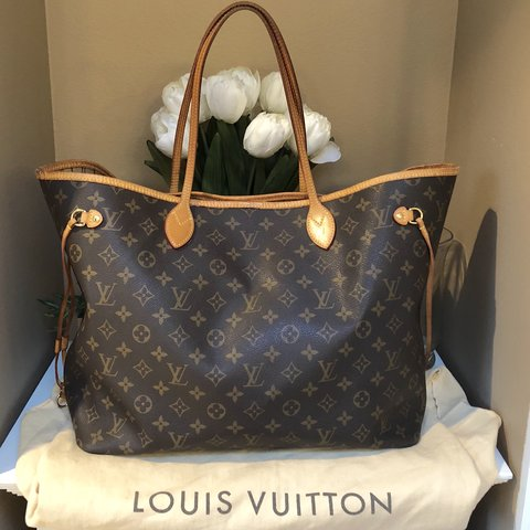 31773c87fcb7 Authentic Louis Vuitton LV monogram Neverfull GM (the size). - Depop
