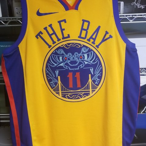 56ca76250456 Golden State Warriors The Bay City Jersey Klay Thompson NBA - Depop