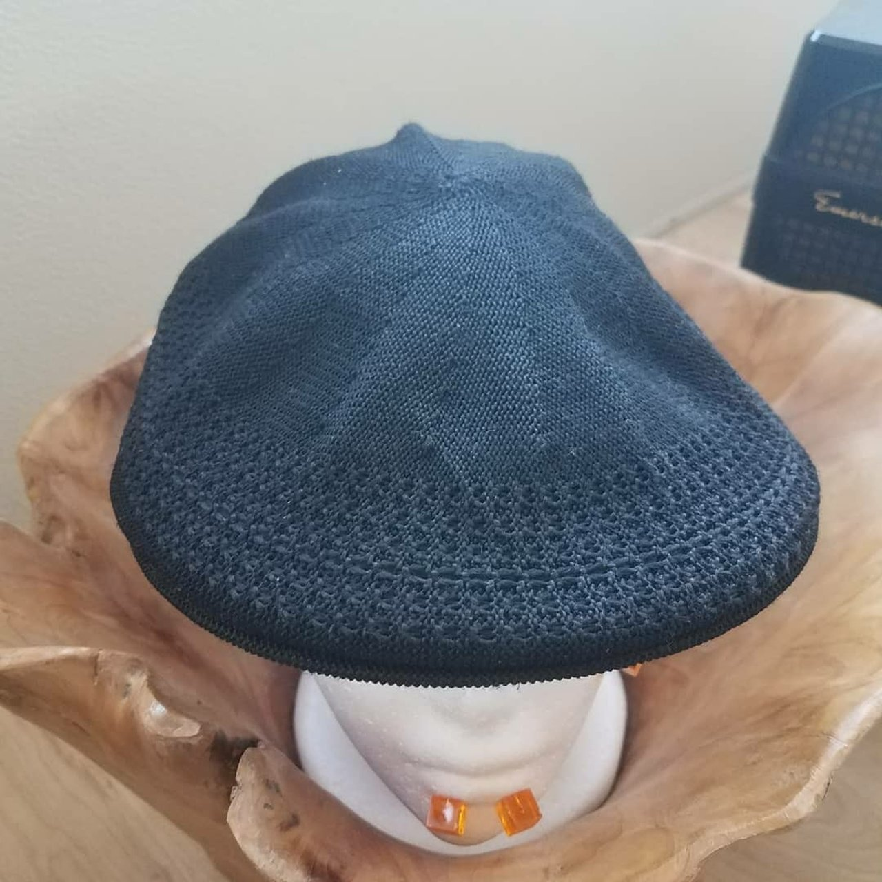 Stetson Black Flatcap Size Small Medium Great Condition - Depop 546c38b16fed