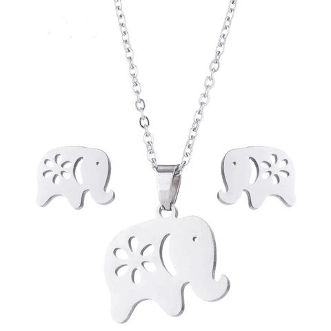 Jewellery & Watches Elephant Necklace And Earrings