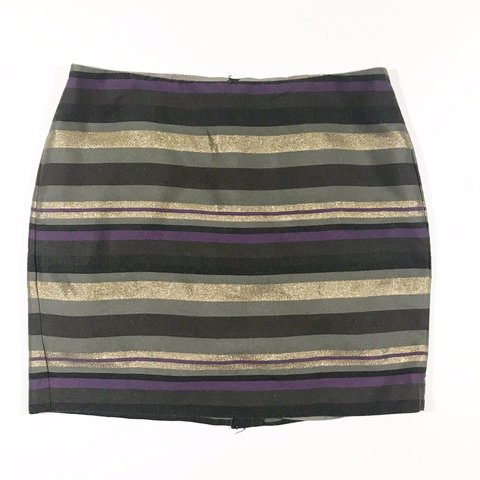 c63e7af6aa @shopleslie. 6 months ago. Helotes, United States. Banana Republic Gold Striped  Mini Skirt