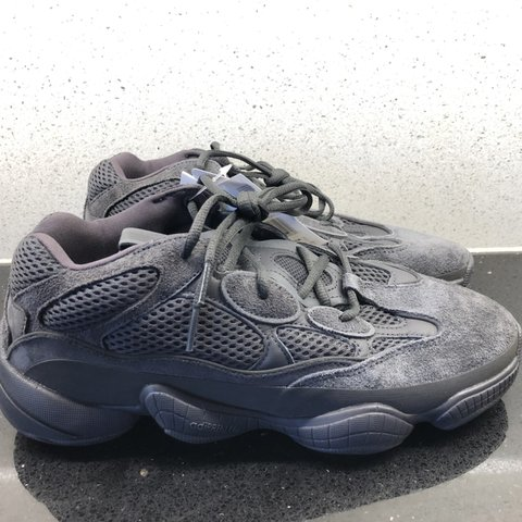 b59ec48583f594 Yeezy 500 Black. ▻Condition  DSWT ▻Size  UK9 . .  yeezy - Depop