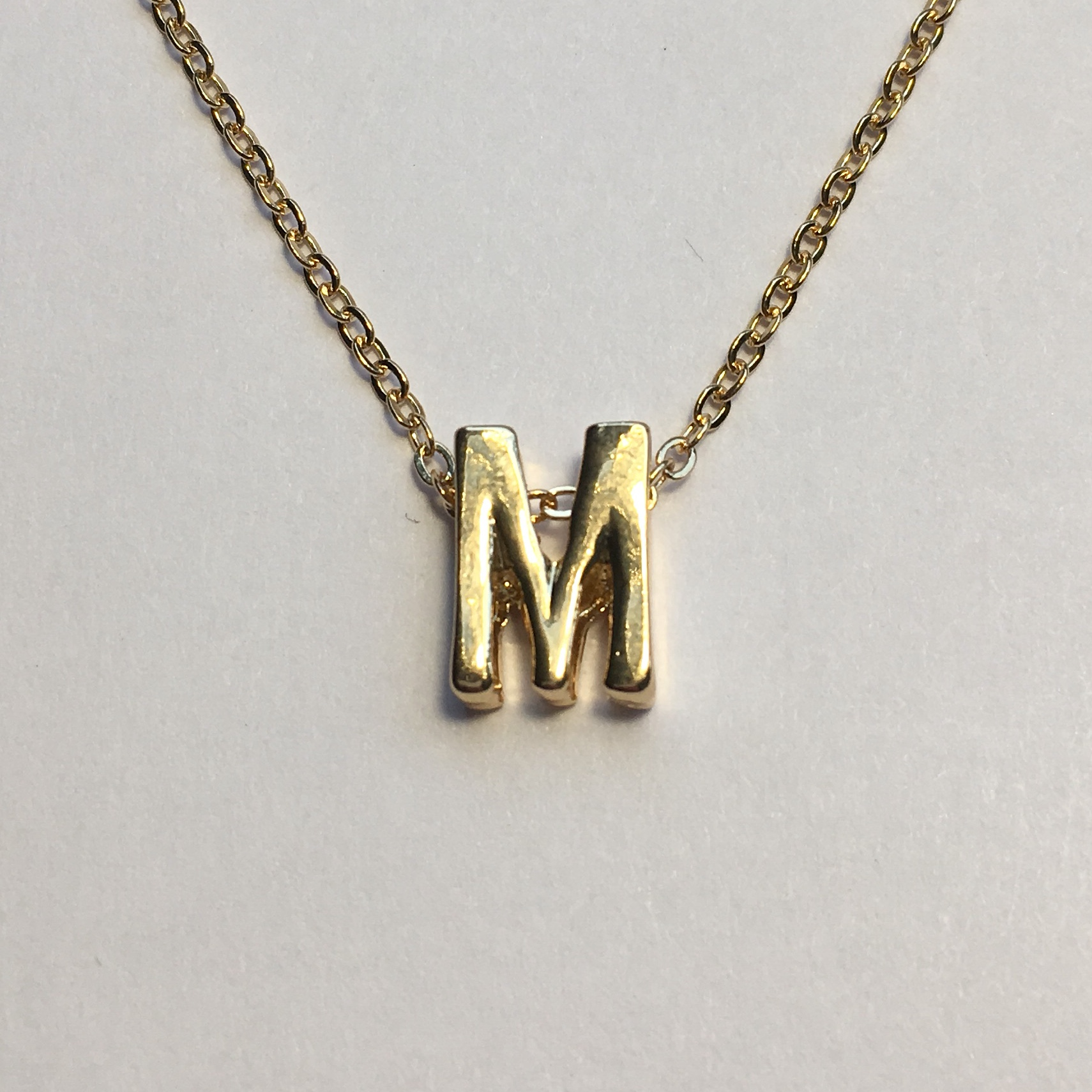 A classic and elegant letter M necklace  Simple and    - Depop