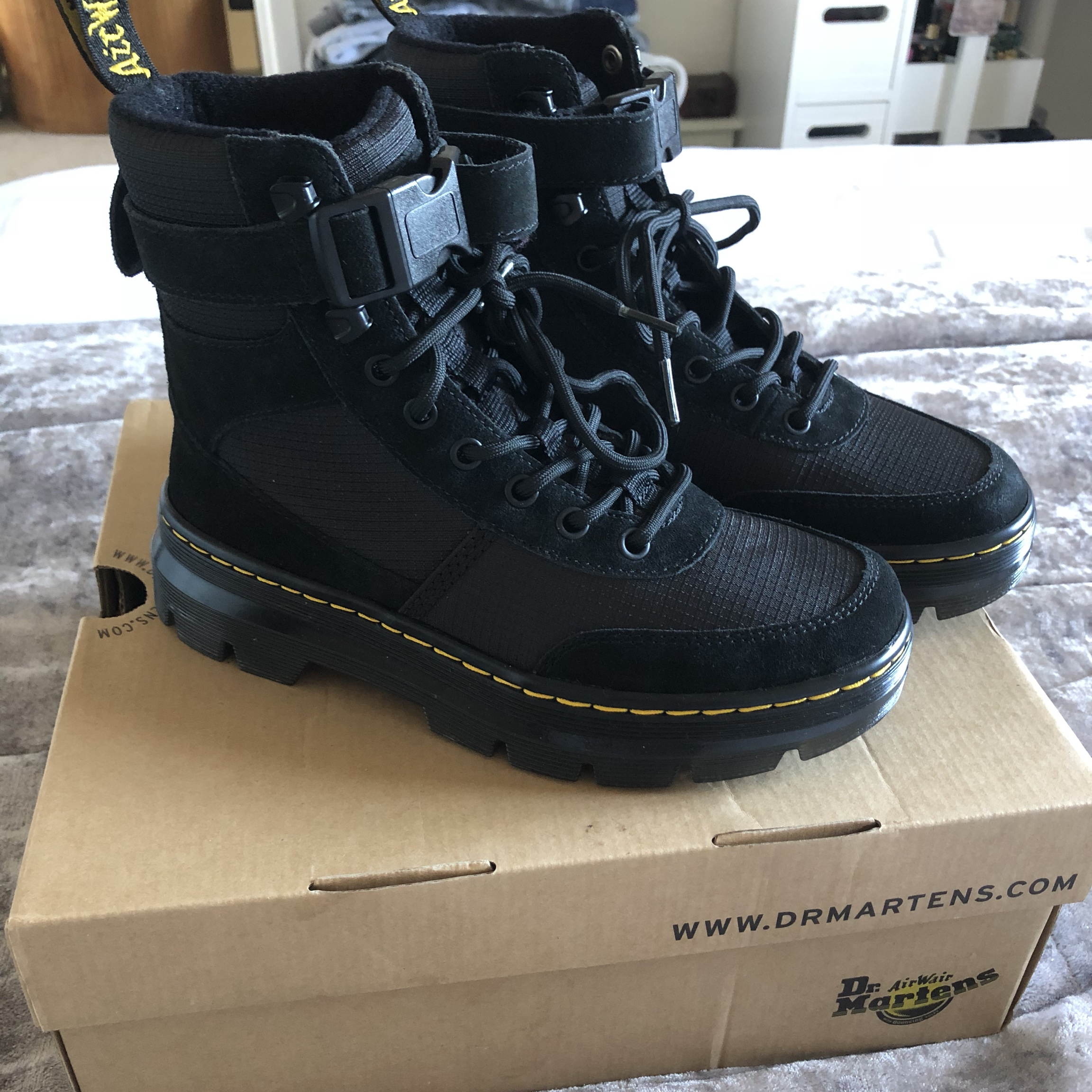 04463c7c346 Dr Martens COMBS TECH - Lace-up boots Black UK 3/36... - Depop