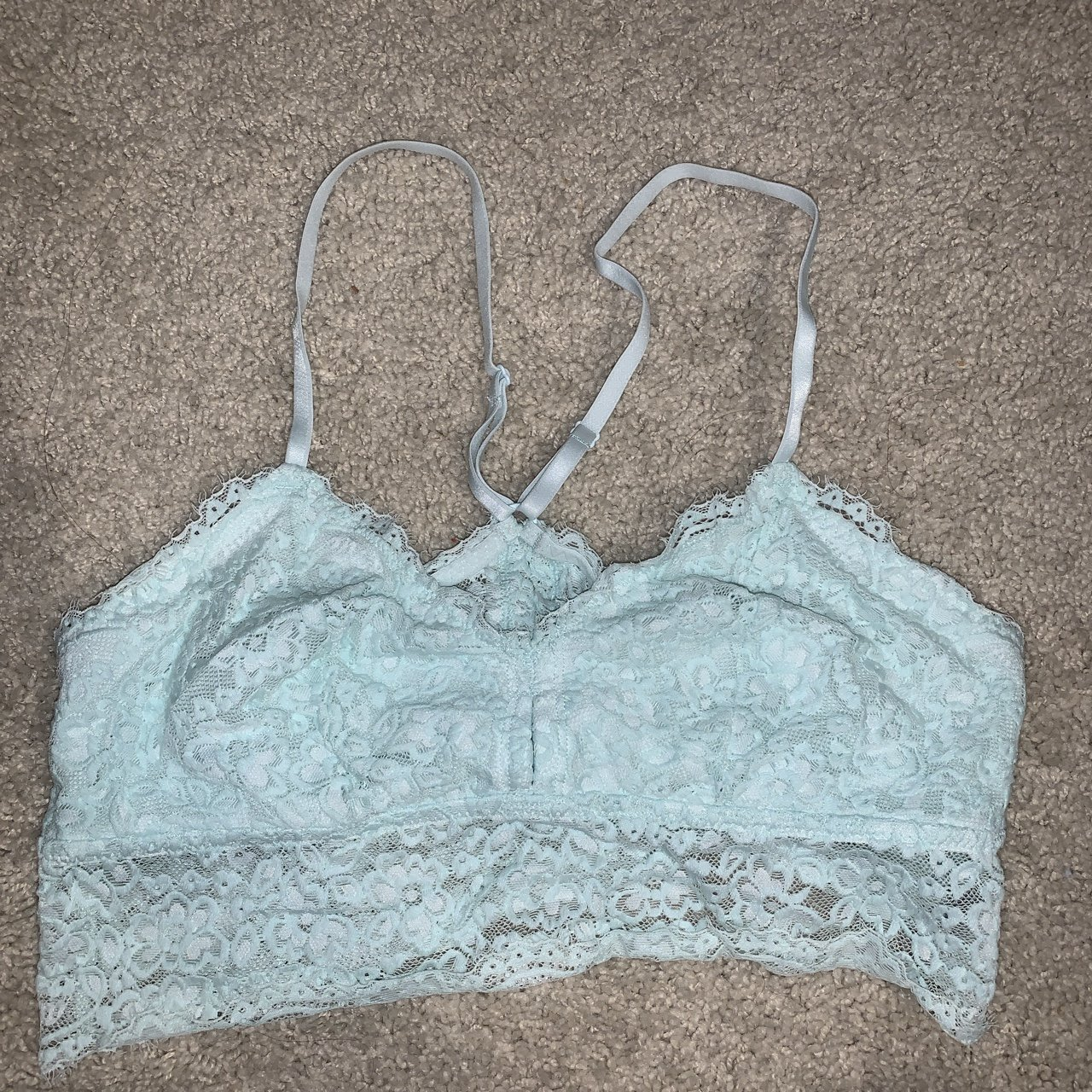 a82f465c5b6 Lace greenish blueish Aerie bralette with- 0