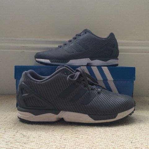 d0c114295167f Adidas ZX FLUX Dark Blue   Onix. UK 5.5. Worn a couple of - Depop