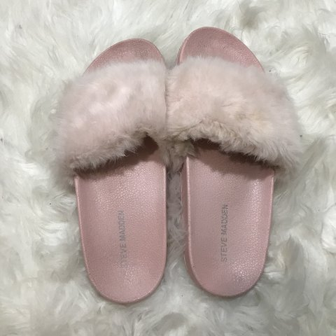 012e11a14127b @officialmarisap. 2 days ago. Pottstown, United States. STEVE MADDEN BABY  PINK FUR SLIDES💓 these are super cute ...