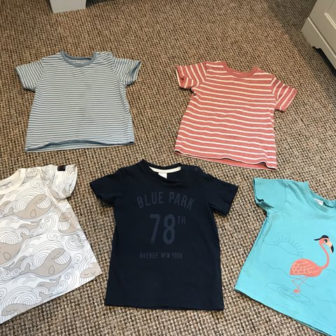 615b1eea2ff7 9-12 months boys t-shirts. All excellent condition. M&S. O. - Depop