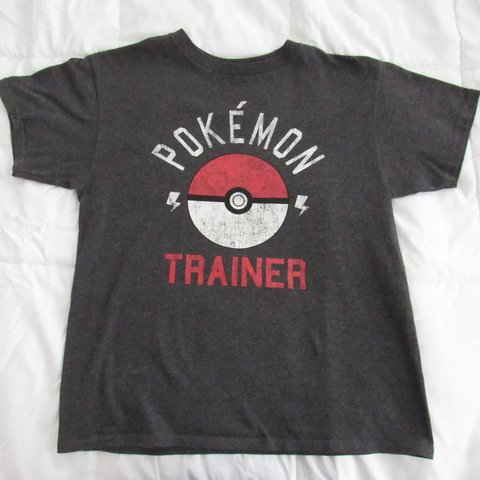 19e2731f Pokémon trainer tee. Says large on tag but fits women's or - Depop
