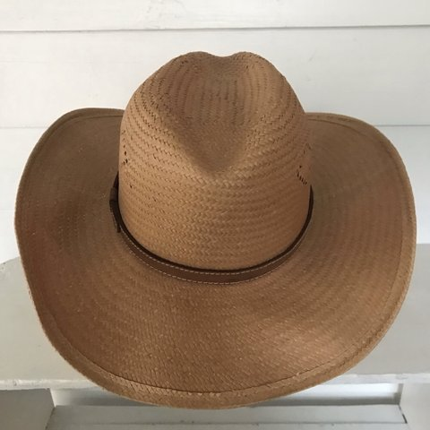 "3dae791d7ad Vintage straw ""Bailey"" Brand Cowboy Hat   Western Wear from - Depop"