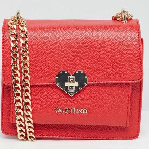979813e7ea1 @adolescentellie. 8 months ago. Derby, United Kingdom. Valentino Red Cross  body bag with gold chain BRAND NEW bought off ...