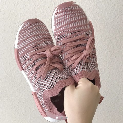 9a629753bed3 Adidas Nmd r1 Pink White Only worn once Size woman s nice - Depop