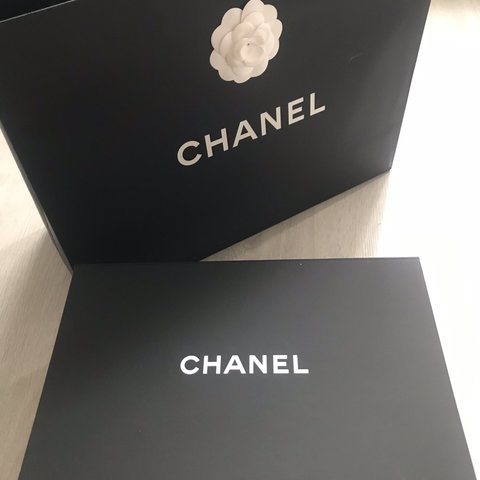 5c23c496ff5a Chanel complete gift set box and bag Authentic Magnetic box - Depop