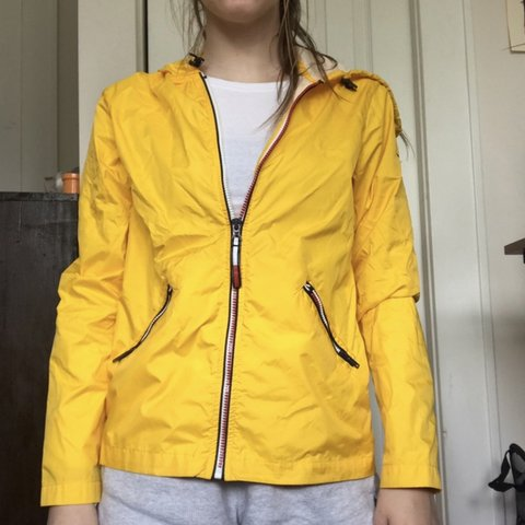 52cd5d9f @nat100m. 2 months ago. Ocoee, United States. Tommy Hilfiger yellow  windbreaker/rain ...