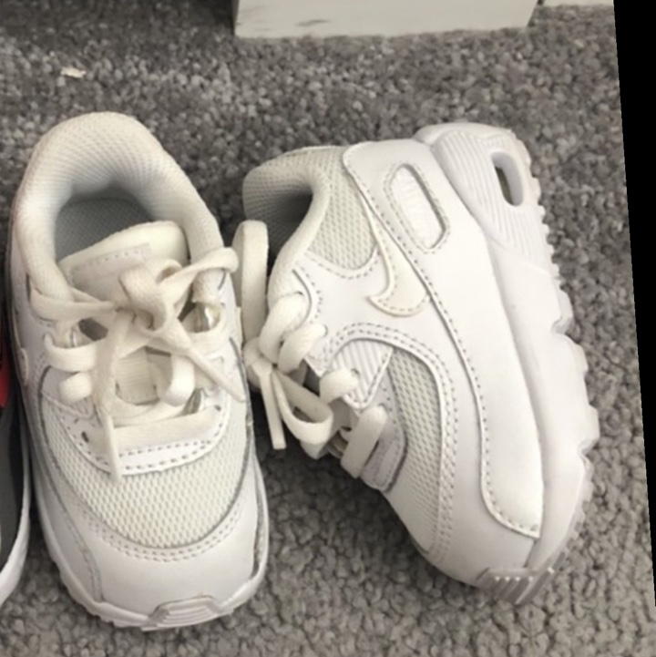 White air max Nike baby trainers size 3