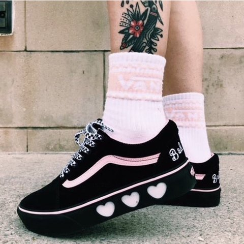 6777d4b85eb BRAND NEW Lazy Oaf x Vans Collab Old Skool Platforms. UK two - Depop
