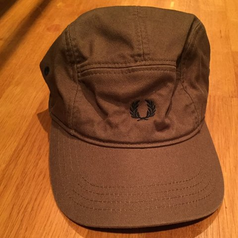 2562fa476ef5c Brown Fred Perry 5 panel cap hat still in good condition no - Depop