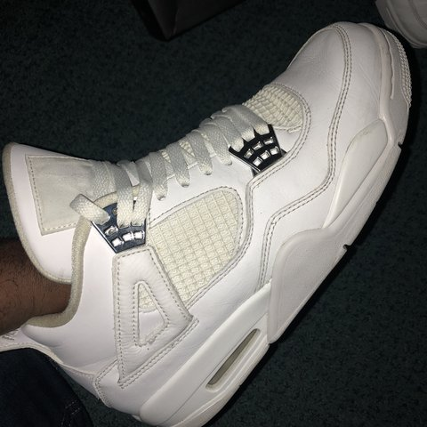 c4257309a2e904 Air Jordan 4 Pure Money SIZE - 8 RRP - £145 Condition - Good - Depop