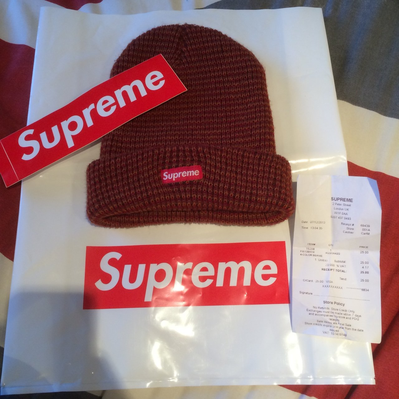 Authentic Supreme Beanie bought from their London store on - Depop 65b7fdf1497
