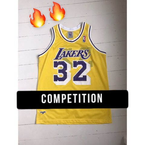f2fae213c33  thejerseyplug. in 18 hours. United Kingdom. COMPETITION 💪🏻 Vintage Magic  Johnson Lakers 32 Jersey ...