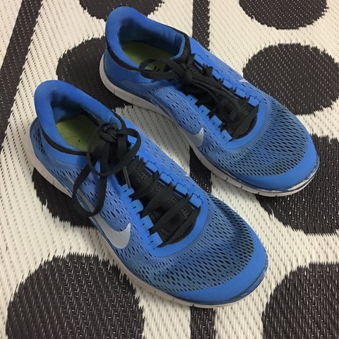 2fd81516088c Nike Free 3.0 Worn and faded Blue trainers sneakers running - Depop