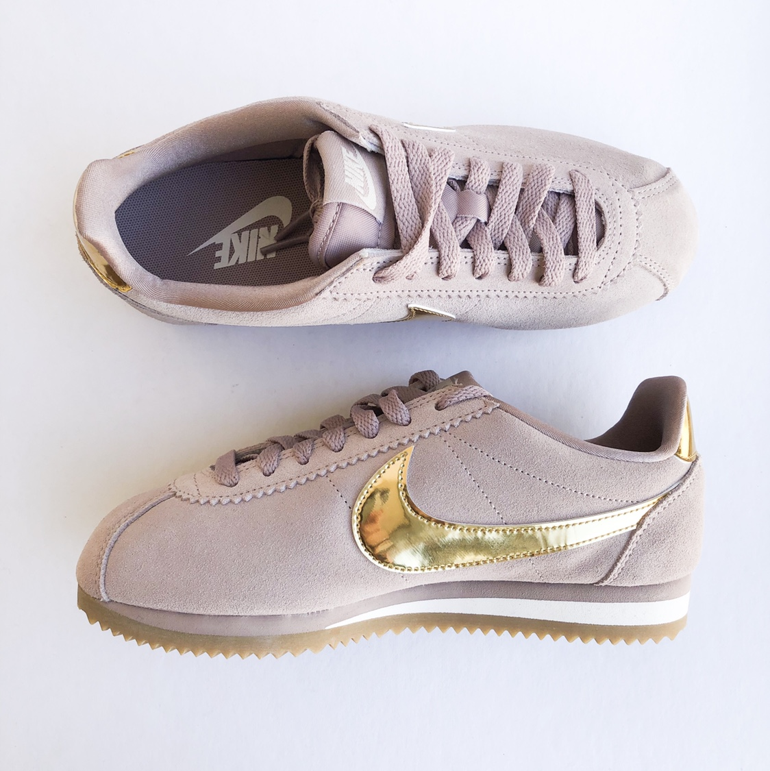 Nike Cortez Classic - Taupe/Gold