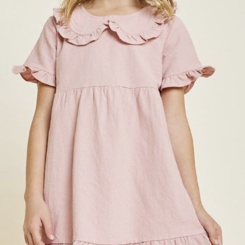8ae9701af0e0 @glorykidshouston. 5 months ago. Houston, United States. BRAND NEW Hayden  Girls Blush Pink Ruffle Bib Babydoll Dress.