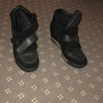 302dc611ca5 Ash Thelma wedge sneakers in black. 4 buckle straps with a - Depop