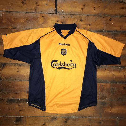 1e61a084c Liverpool away shirt 2000 01   2001 02. Worn by Liverpool 2 - Depop