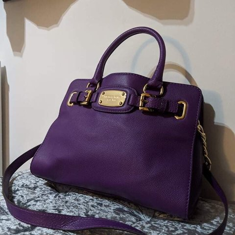 dc88df2c95f9 Purple Michael Kors handbag - been used a couple of times - Depop