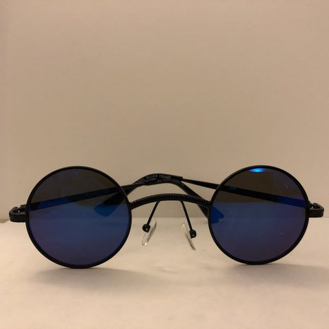 b0e5688780044 Vintage Steampunk Glasses Black  Blue Mirror - Depop