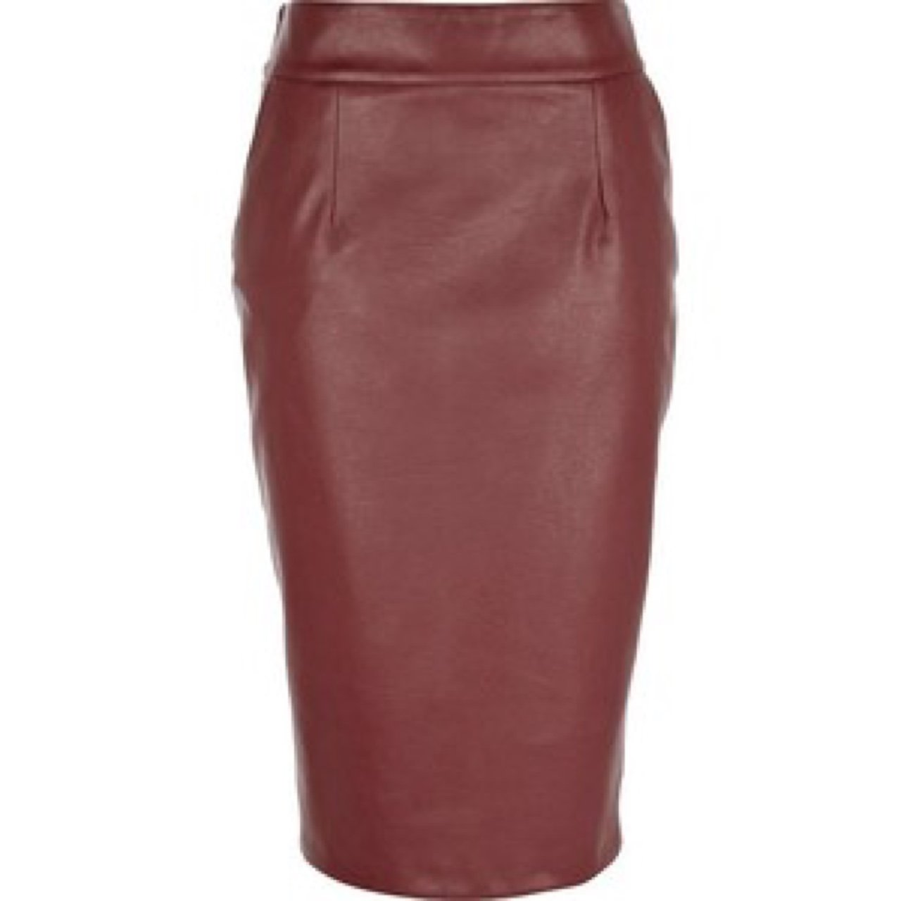 256557996342 Deep Red Leather Skirt - raveitsafe
